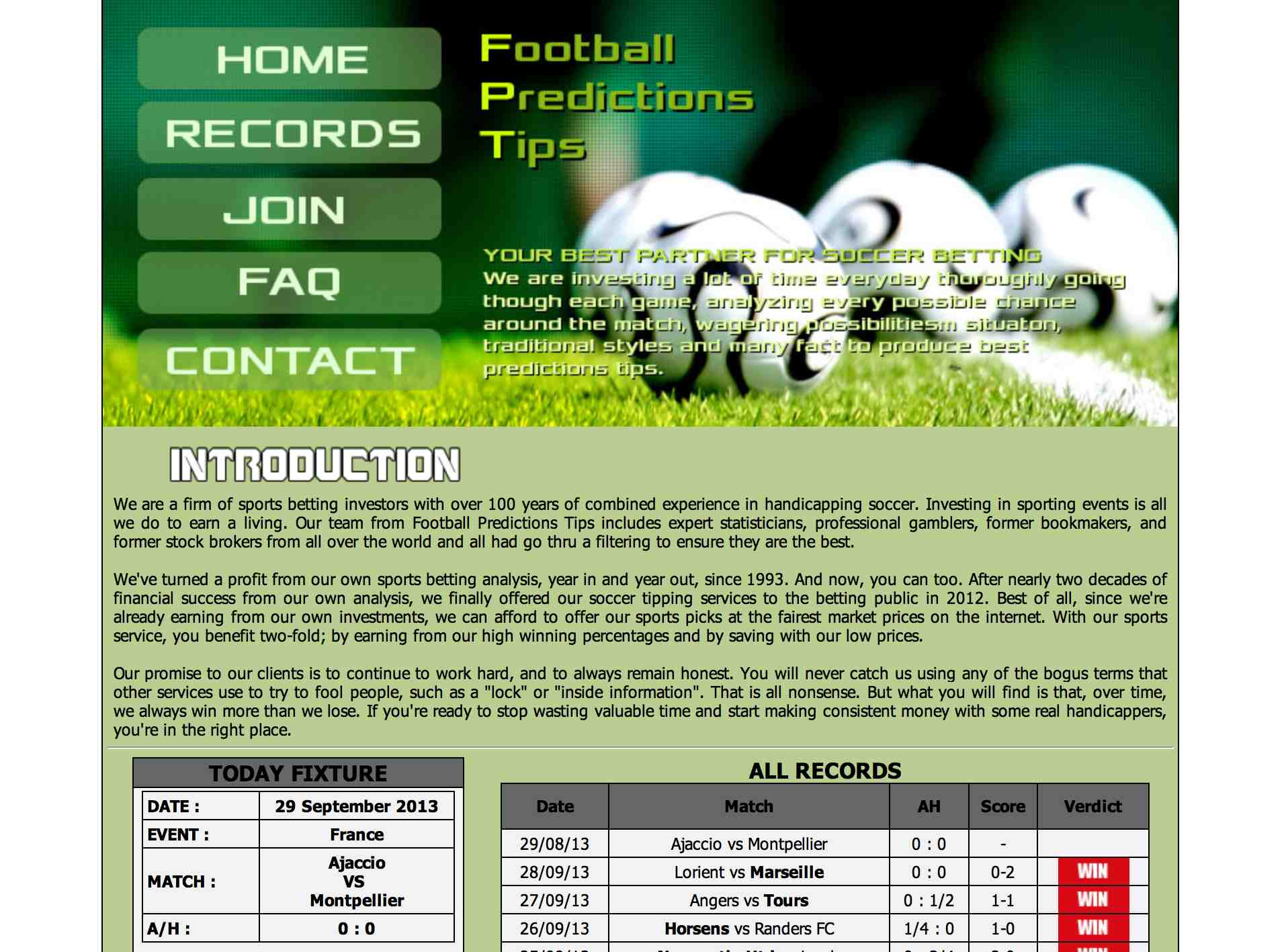Football Predictions TIps